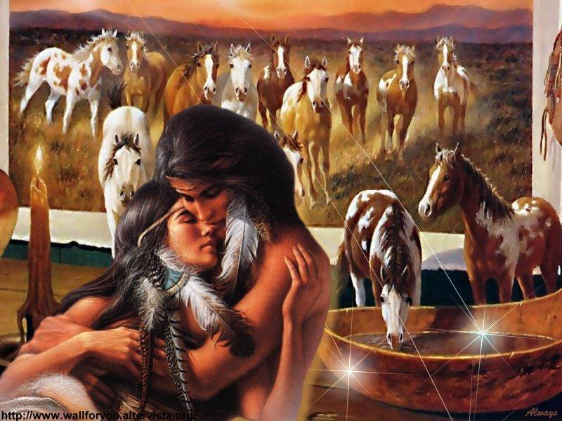 Risultati immagini per nativi americani innamorati