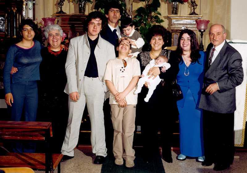 la famiglia al gran completo...