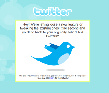 Twitter Home Page NOW