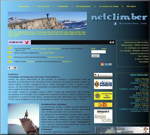 NETCLIMBER.ARRAMPICAta,alpinismo,escursionismo.