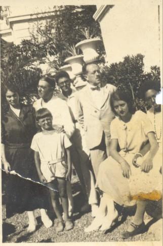 In giardino ad Anzio - 1924