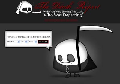 自分が生まれた日に誰が死んだのかを調べられるサービス Who was Departing?