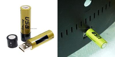 USBで充電する充電池 Super Cool USB Batteries
