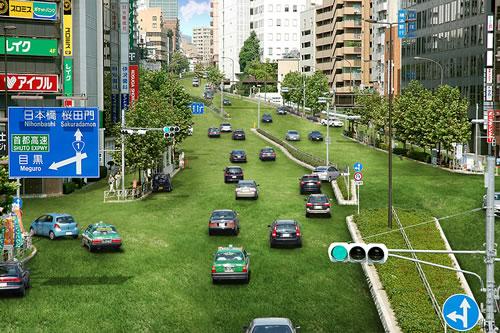 東京を緑でいっぱいにするアート『Green Island Project』