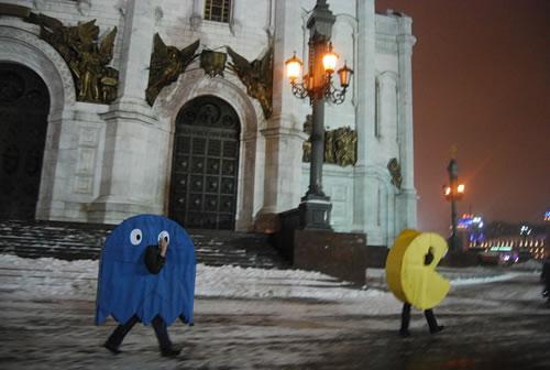ロシア、モスクワにパックマンあらわる!