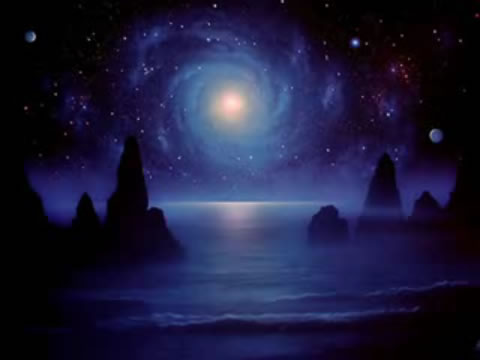 広い銀河と星々のイメージ写真をノリノリの音楽で楽しむ動画