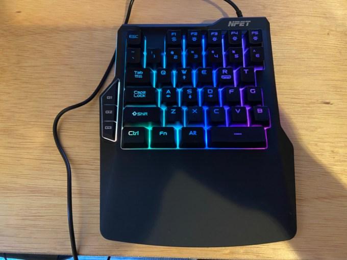 NPET 片手式メンブレン式キーボード ZBrush blender
