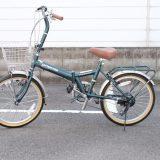 キャプテンスタッグ 折り畳み自転車 サイクリング おしゃれ captain stag