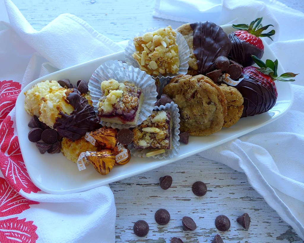 Small platters are more inviting and can be passed around easily. Replenish as needed.