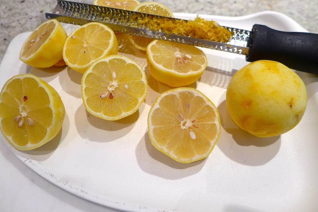 Zest lemons first, then slice and squeeze. Reserve extra juice for drinks or frosting. Recipe at diginwithdana.com