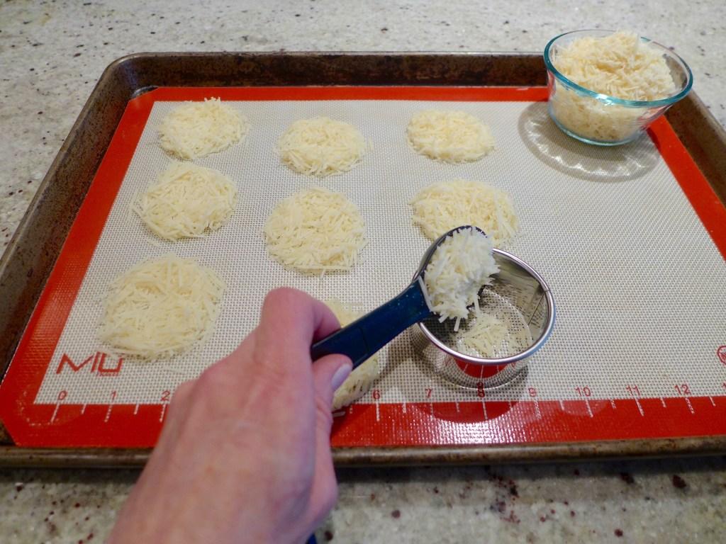 One ingredient parmesan crisps.