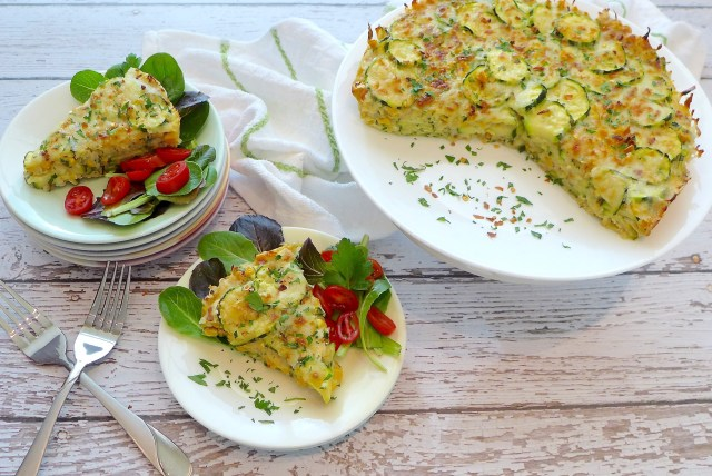 Savory Zuchinni Pie (Gluten Free and Vegetarian)