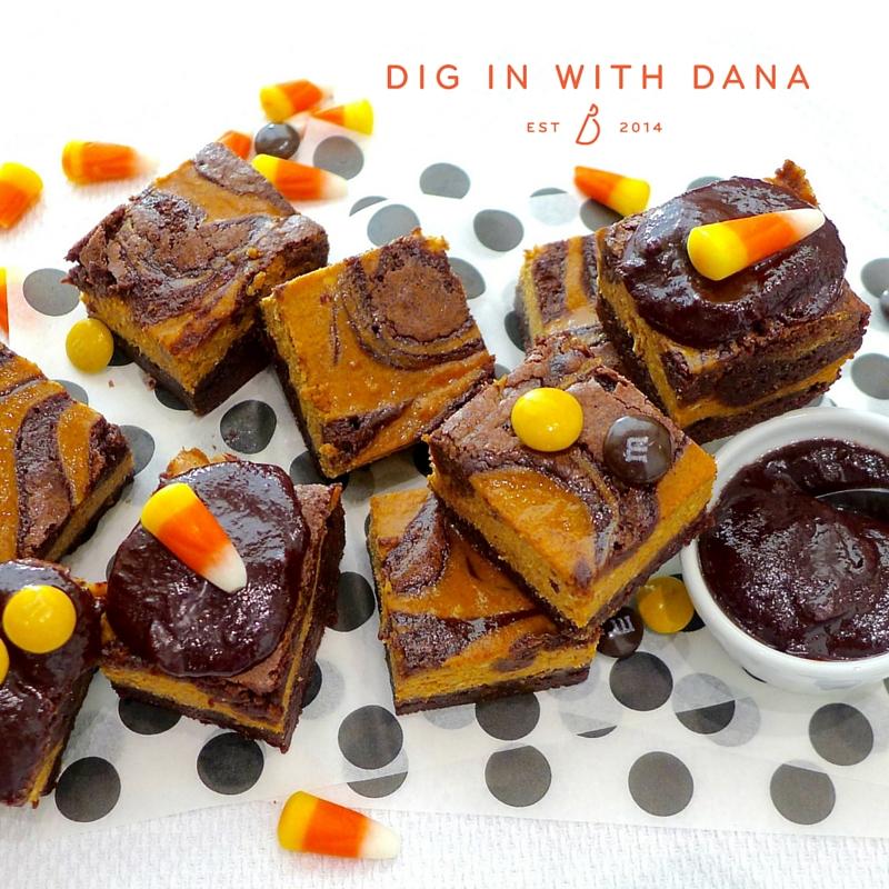 Pumpkin swirl brownie recipe and ideas at diginwithdana.com