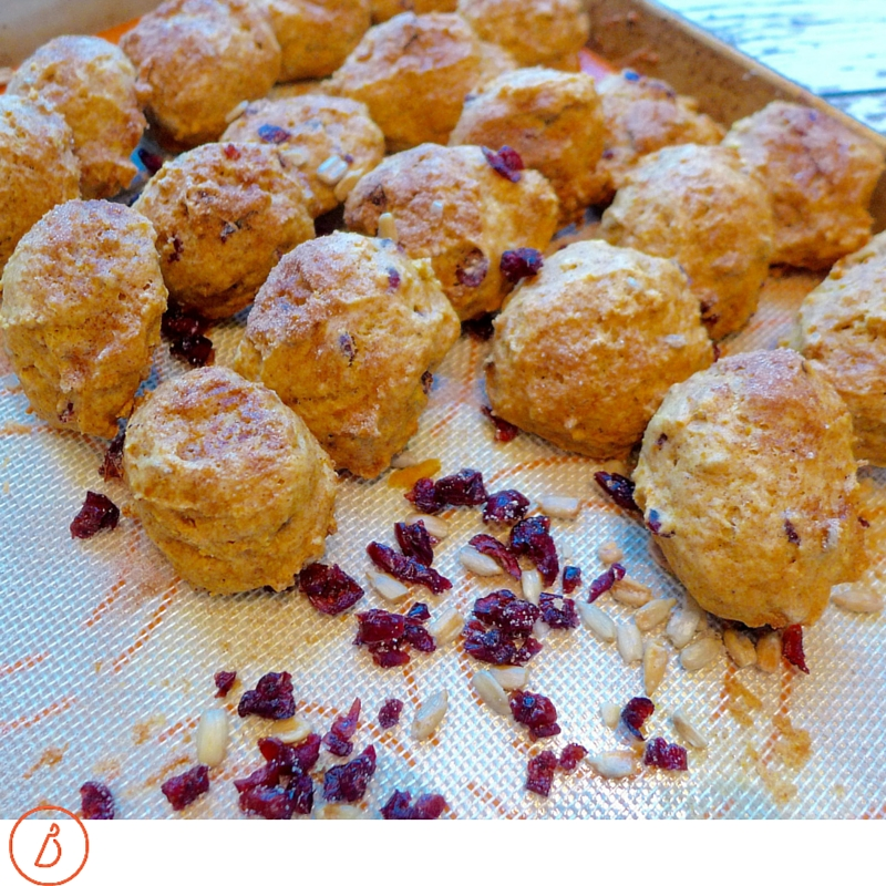 Mini scones, like biscuits, are best eaten same day or next day. Bake some for your next special breakfast or brunch and fill with jam, butter or even sandwich fillings!