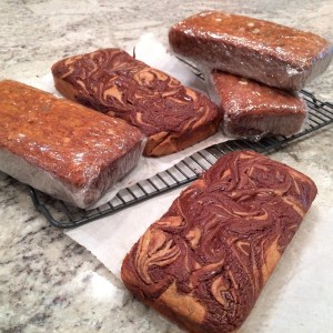 Pumpkin Chocolate Ribbon Bread