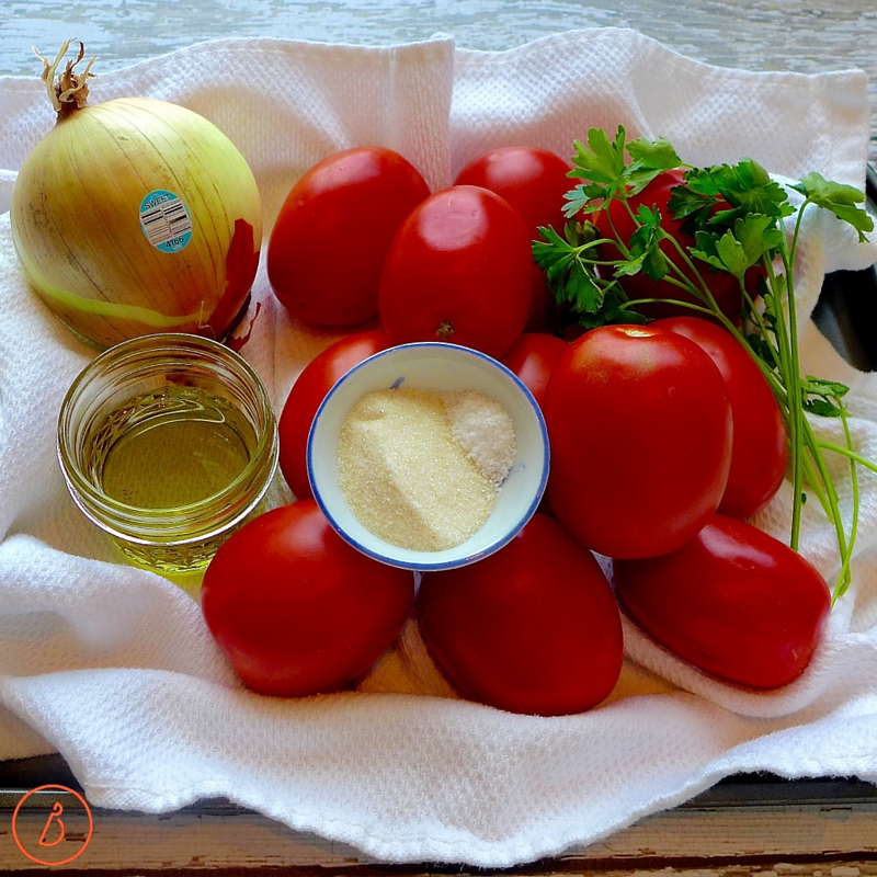 All you need to make easy tomato sauce.