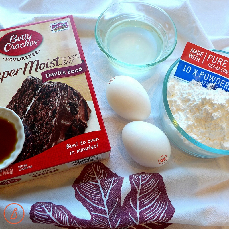 What you need to make chocolate crinkles