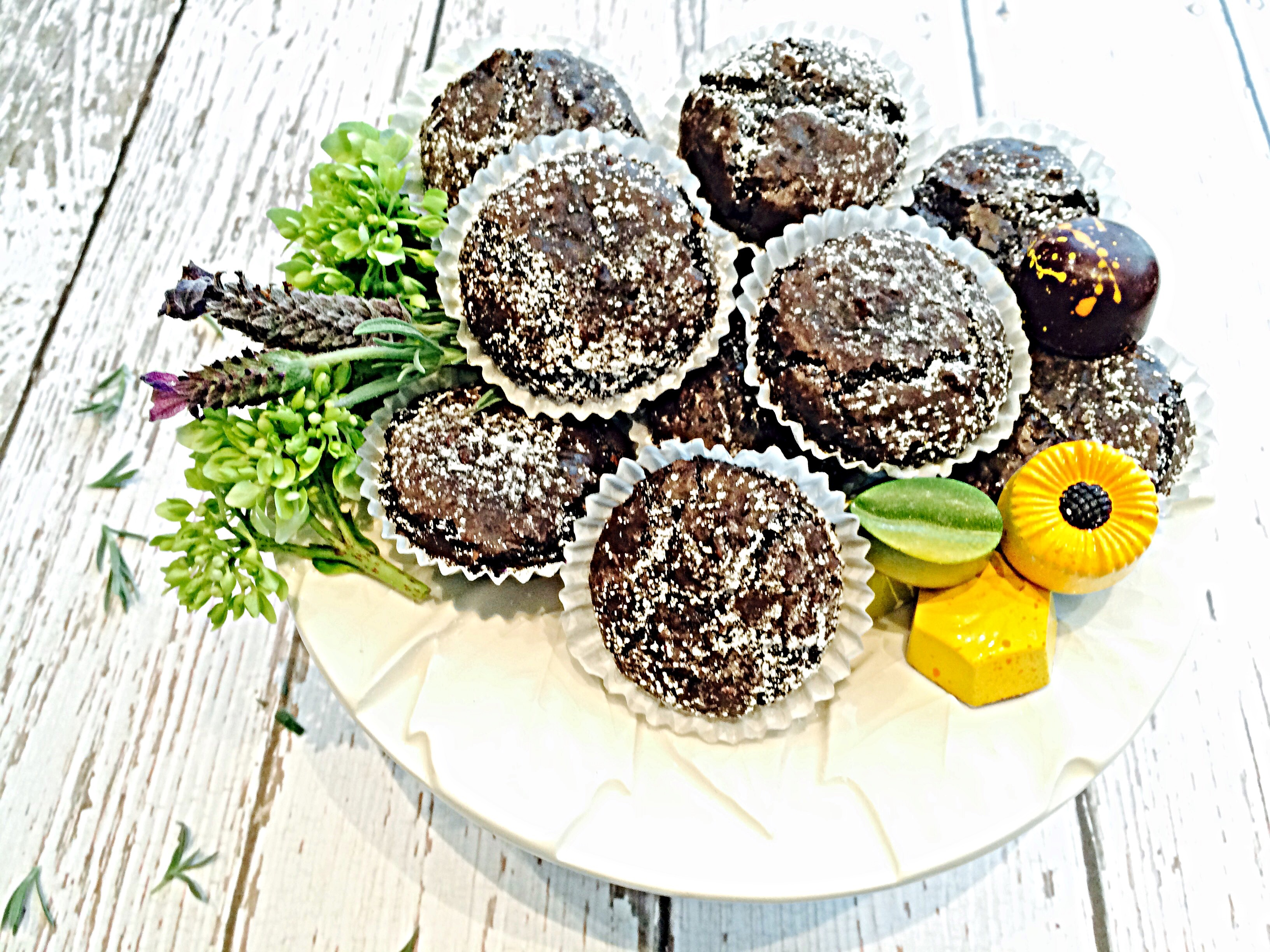 Flourless Brownie Bites are a great gluten free dessert anytime of year!