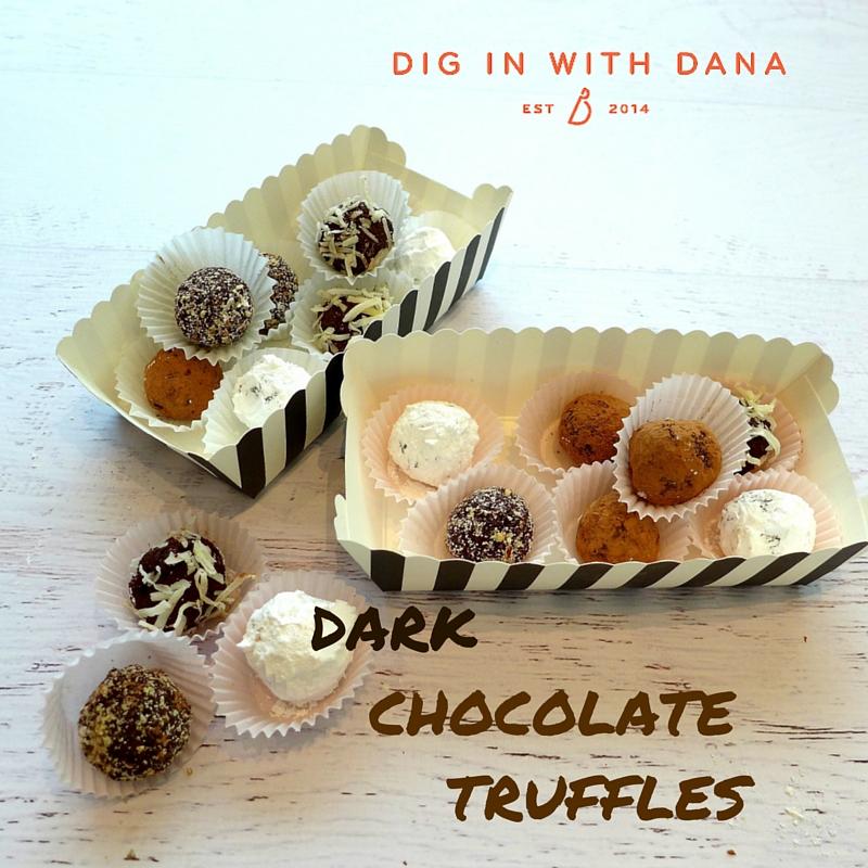 Dig in to EASY Dark Chocolate Truffles!
