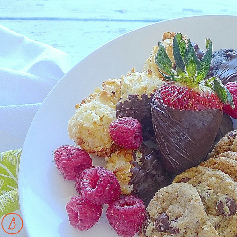 Say yes to two bite desserts, fruit and mood-boosting chocolate.