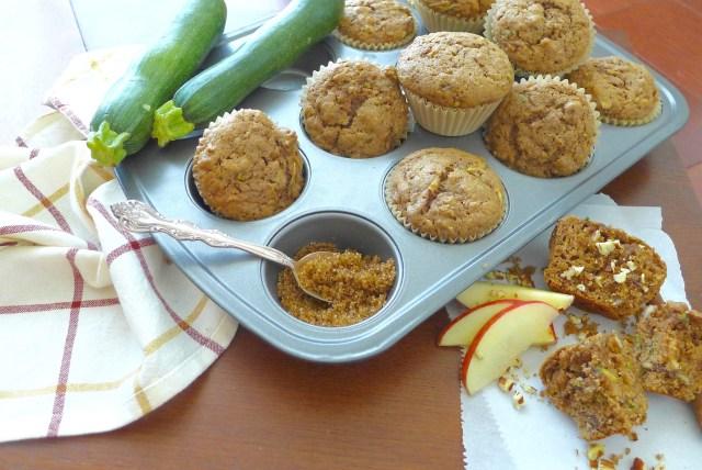 Cinnamon Apple Zucchini Muffins