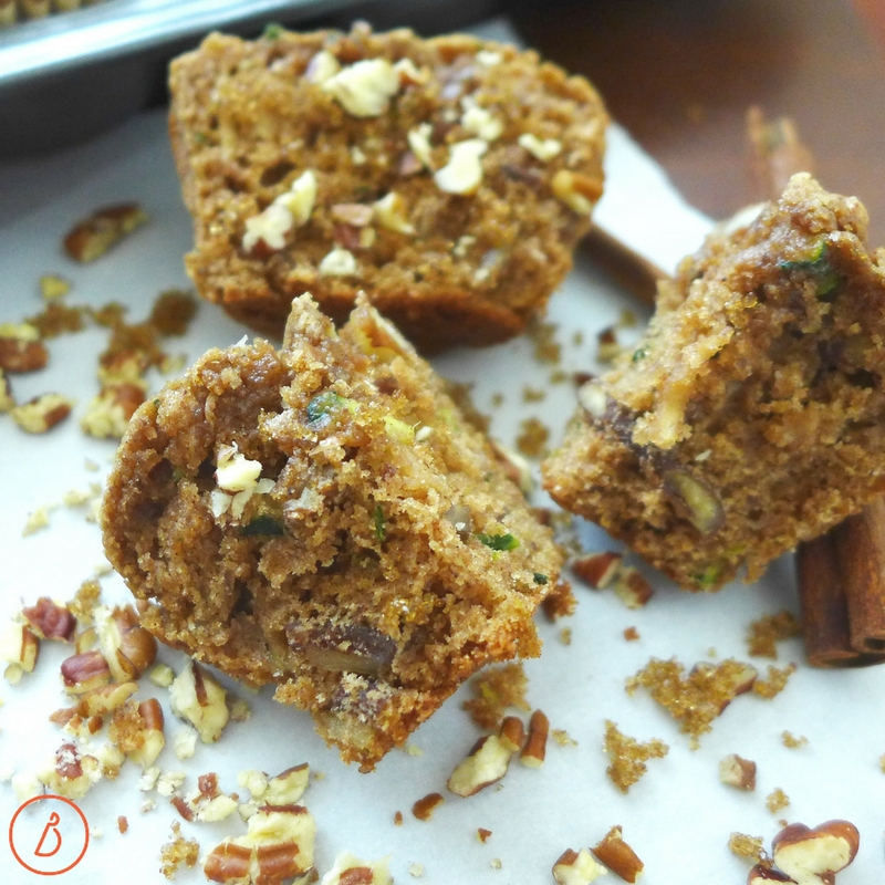 Flavorful, light and perfect for breakfast or snacks, try these Cinnamon Apple zucchini muffins at diginwithdana.com