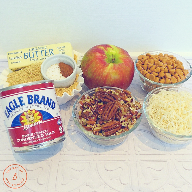 All you need to make outrageously delicious apple hello dollies