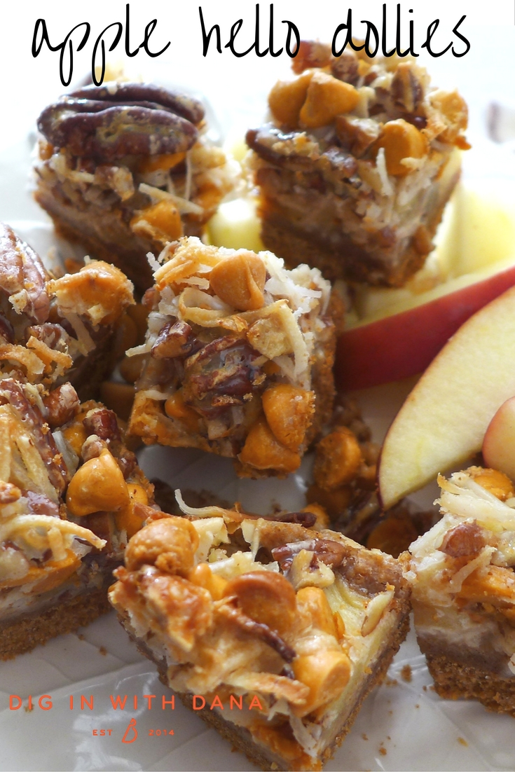 Dig in to Apple Hello Dollies, a simple cookie bar that's easy to adapt to your taste. Find this Recipe and more at diginwithdana.com