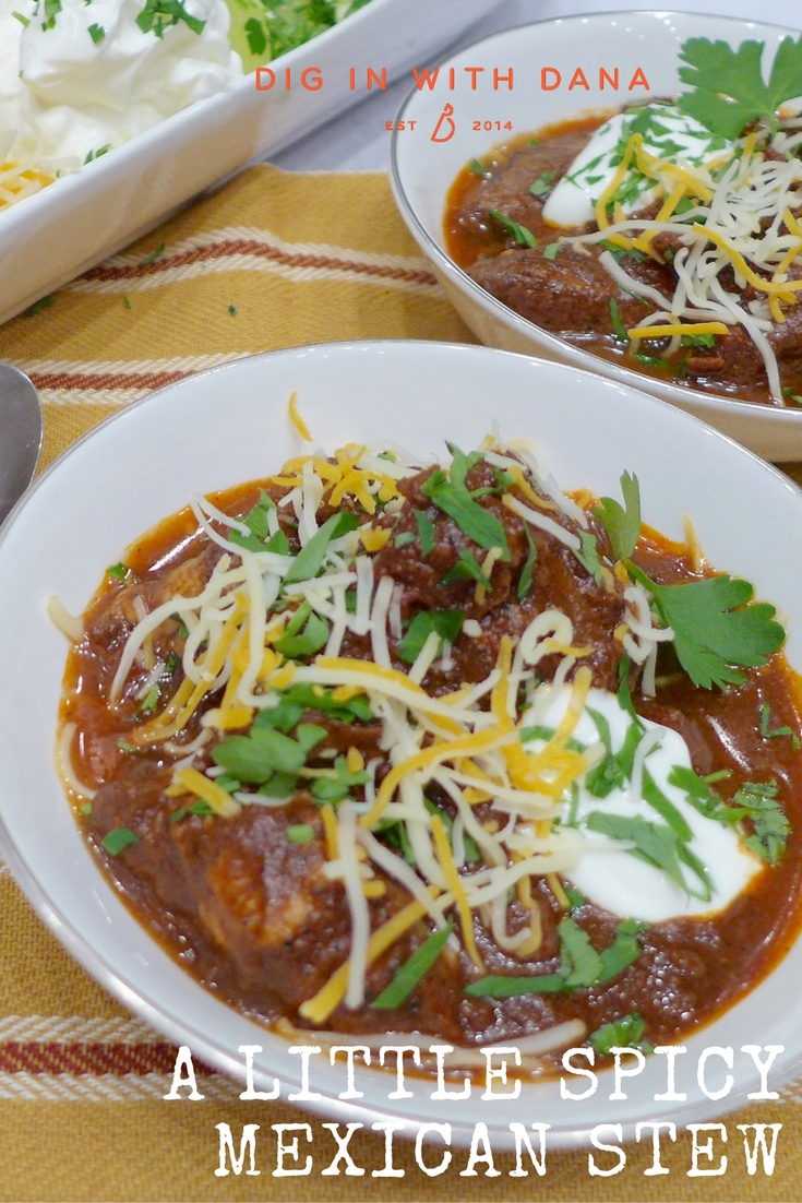 Little spicy Mexican Stew at diginwithdana.com