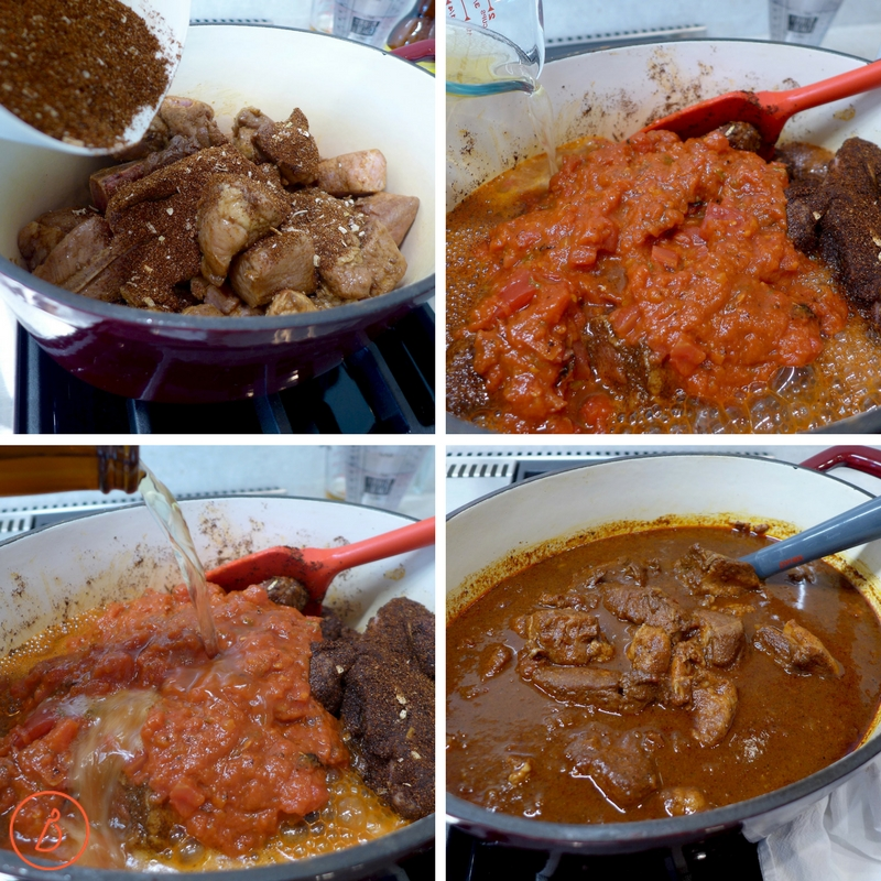Season, add beer and water, simmer 2 hours and serve. Mexican Pork Stew recipe at diginwithdana.com