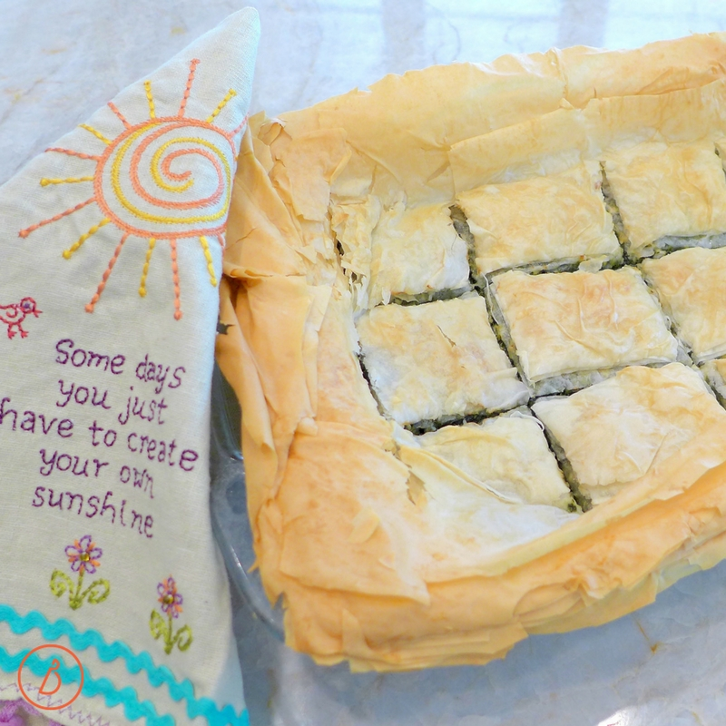 Make some sunshine with this Easy Spanakopita ( Greek Spinach Pie). Recipe and photos at diginwithdana.com
