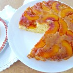 Nectarine Upside Down Cake recipe at diginwithdana.com