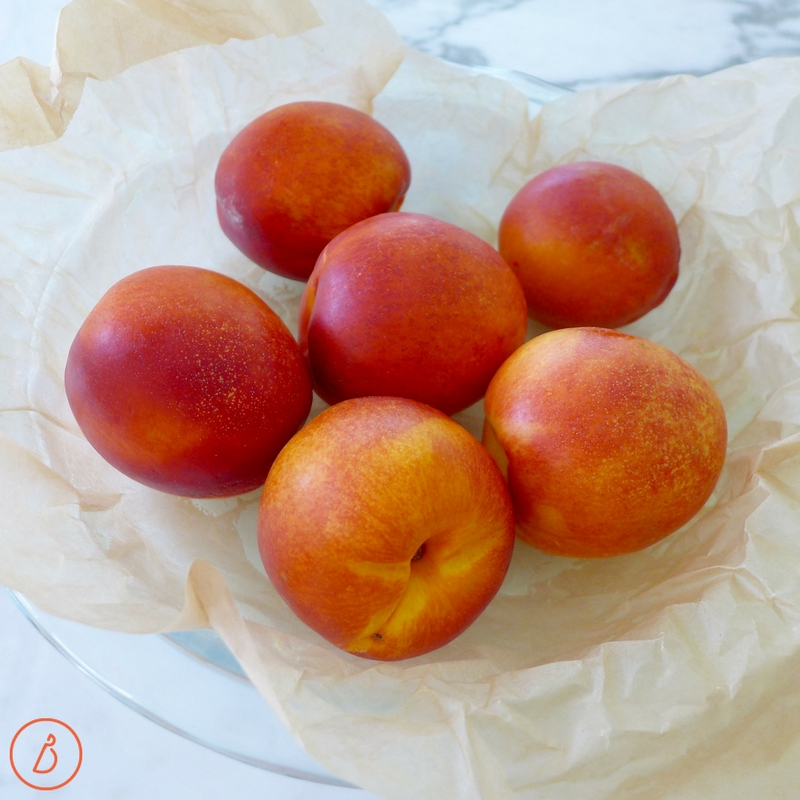 Ripe nectarines or your favorite summer fruit make the base for this upside down cake. Recipe at diginwithdana.com