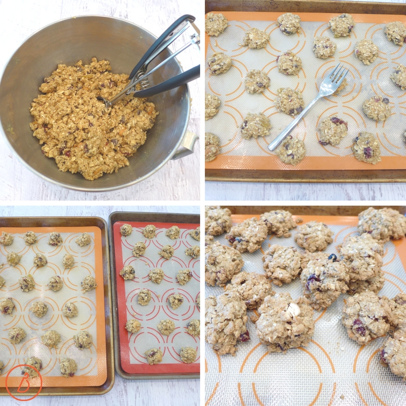 Scoop, flatten and bake these Deluxe Trail Mix Cookies. Recipe and helpful tips at diginwithdana.com
