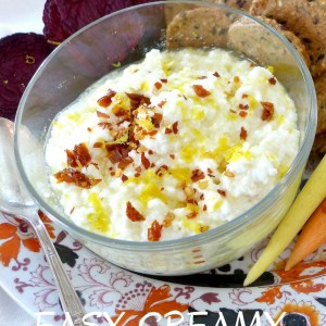 Easy Creamy Lemon feta Dip at diginwithdana.com