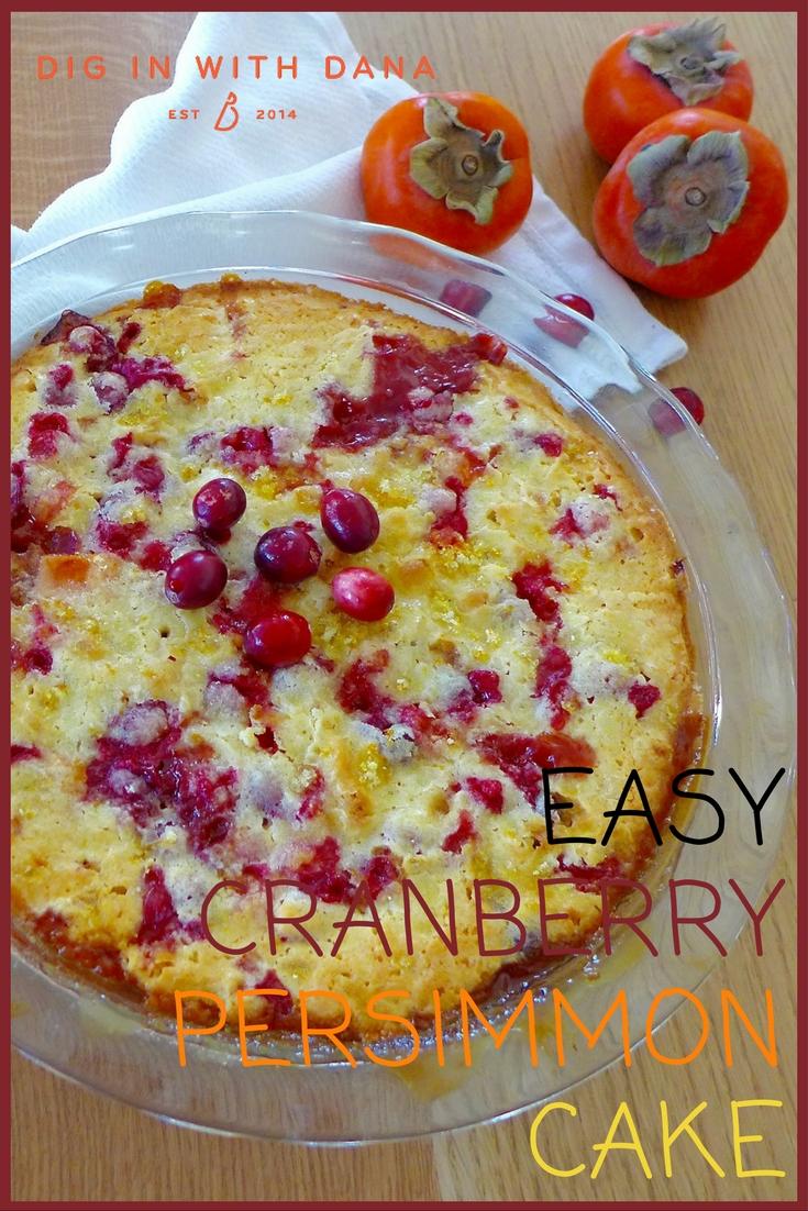 Easy Cranberry Persimmon Cake recipe and ideas at diginwithdana.com
