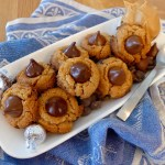 YOu've just got to make these five ingredeint gluten free Peanut Butter Kiss and Tell Cookies. Recipe and photos at diginwithdana.com