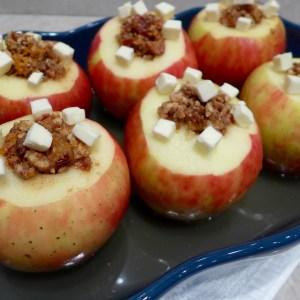 Date nut Stuffed Baked Apples at diginwithdana.com