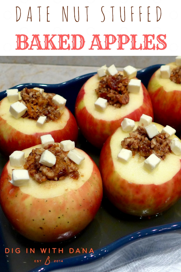 Dig in to Date Nut Stuffed Baked Apples. Recipe and helpful photos at diginwithdana.com