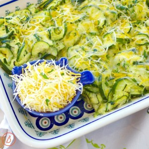 Easy Cheesy Zucchini Bake recipe and versatile ideas at diginwithdana.com
