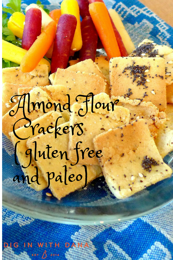 Almond Flour Crackers ( gluten free and paleo) Recipe and helpful photos at diginwithdana.com