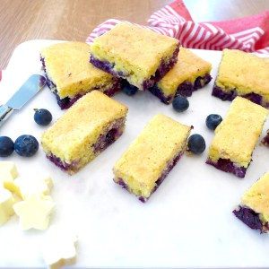 Easy and delicious Jiffy Blueberry Cornbread recipe and other baking ideas at diginwithdana.com