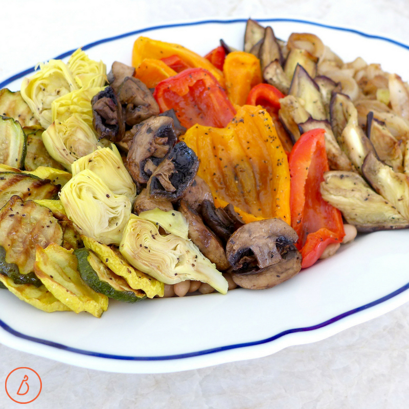 Prep these roasted vegetables at the start of the week for easy meal planning all week long. Recipe and ideas at diginwithdana.com