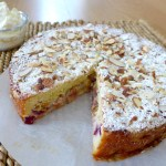 Peach Raspberry Crumble Cake Recipe at diginwithdana.com