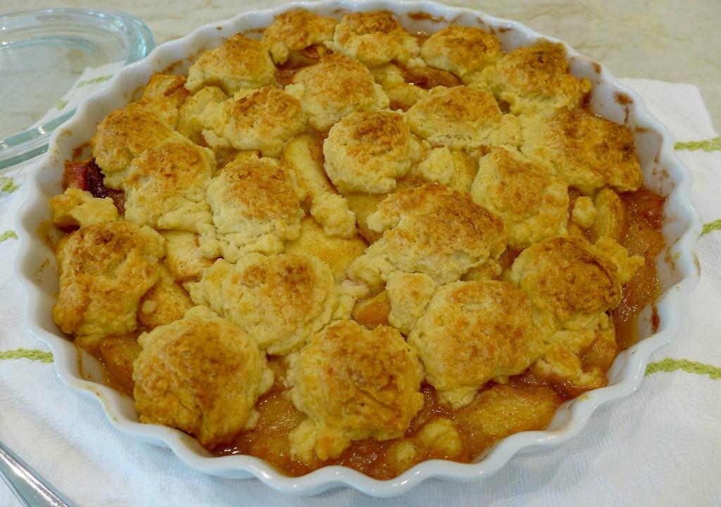 Peacy Fruit Cobbler recipe and ideas at diginwithdana.com