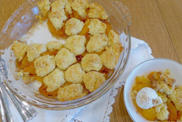 Peachy Fruit Cobbler