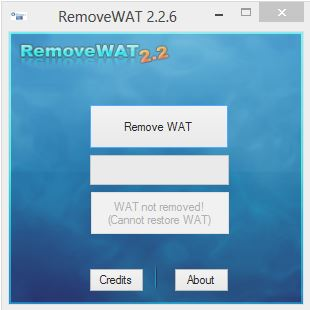 Remove WAT - Free Activator Software to make Windows XP, 7, 8, 8 1