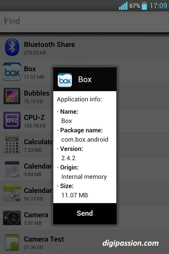 How to) Send installed apps apk files from one Android phone to