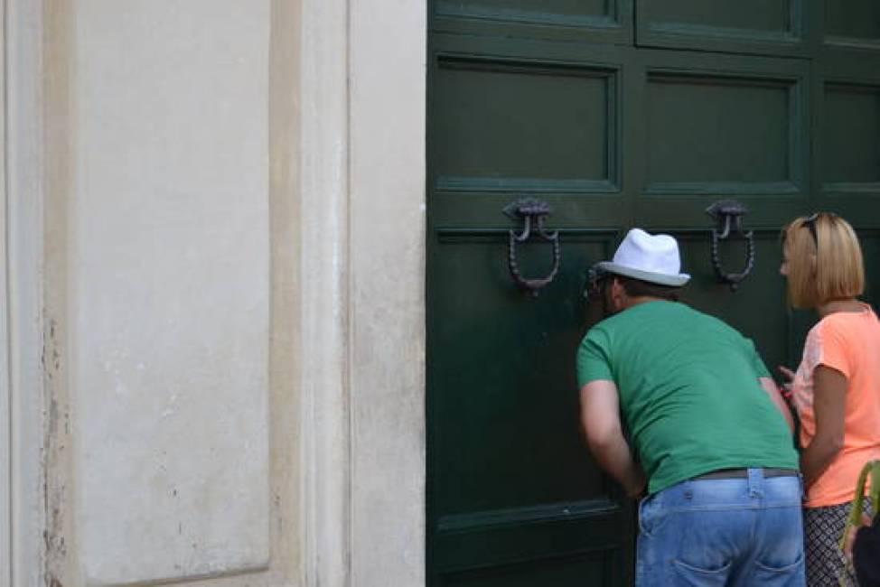 buco della serratura roma