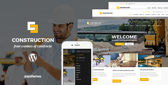 Construction - construction WordPress themes